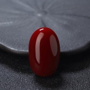 阿卡牛血紅珊瑚蛋面形戒面