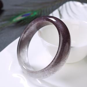56mm紫發晶平安鐲