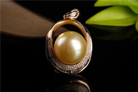 金珍珠吊坠图片,金珍珠吊坠为何那么贵?