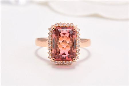 粉红碧玺戒指有多美?粉红碧玺戒指图片!