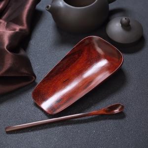 半星雞血紅小葉紫檀茶匙/茶則套裝