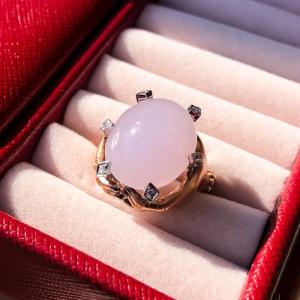 18K冰种紫罗兰翡翠戒指
