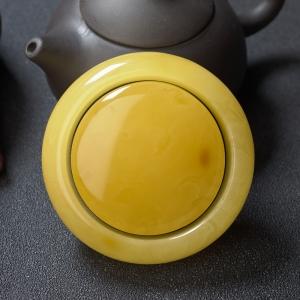 55mm鸡油黄蜜蜡平安镯