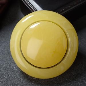 59mm鸡油黄蜜蜡平安镯