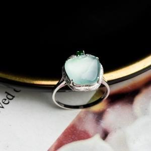 18K冰种翡翠戒指
