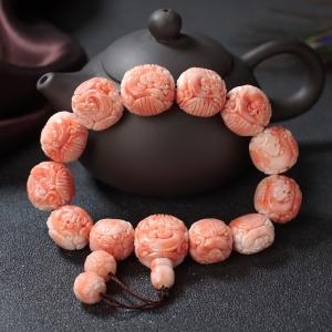 深水珊瑚龙珠单圈手串