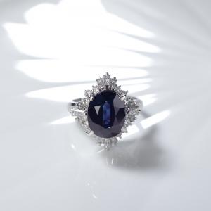PT深藍色藍寶石戒指