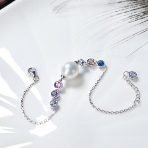 18K海水白色珍珠手鏈