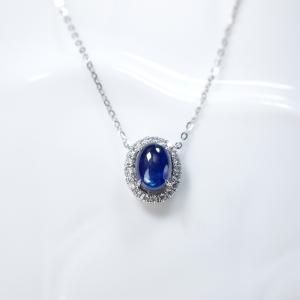 18K蓝色蓝宝石项链