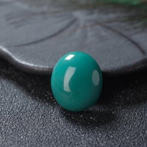 高瓷蓝绿绿松石蛋面形戒面