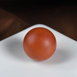 18.5mm柿子紅南紅圓珠