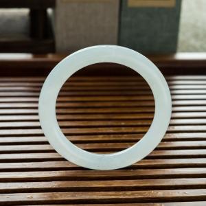 51.5mm糯冰种翡翠圆镯