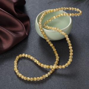 5mm金发晶多圈手串