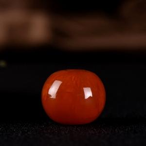 柿子红南红鼓珠吊坠