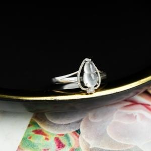 18K玻璃种翡翠福禄戒指