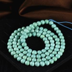 6.5mm中高瓷蓝绿色绿松石108佛珠