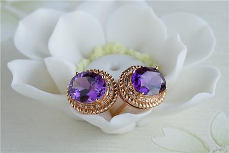 紫水晶饰品图片,紫水晶饰品的作用与功效