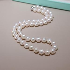 8.5mm海水粉白色珍珠项链