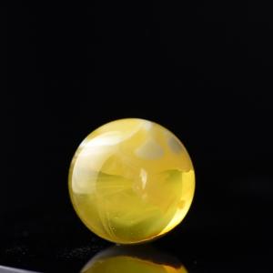15.5mm金瓷白蜜蜡圆珠配件