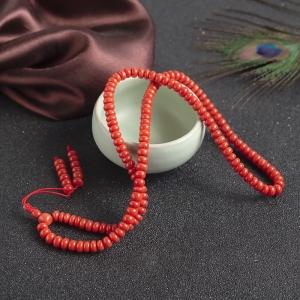 沙丁珊瑚算盘珠多圈手串