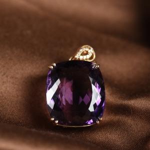 18K紫水晶吊坠