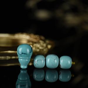 中高瓷蓝色绿松石网花配件套装