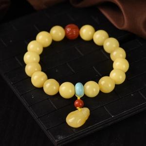 11mm白花蜜蜜蜡福袋单圈手串