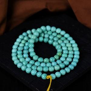 6.5mm中高瓷蓝色绿松石108佛珠