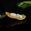 缅甸天然豆种翡翠弥勒佛吊坠-红掌柜