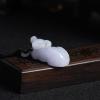 豆種紫羅蘭翡翠吊墜-紅掌柜