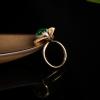 高冰种翠绿翡翠戒指-红掌柜