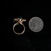 缅甸天然翡翠戒指-红掌柜
