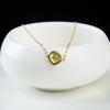 巴西天然金黄绿色橄榄石手链-红掌柜