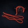 正红珊瑚兽骨项链-红掌柜