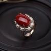 18K金镶钻日本天然深红珊瑚两用款-红掌柜