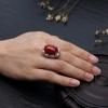 18K金镶钻日本天然阿卡珊瑚两用款-红掌柜