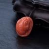 天然MOMO橘色珊瑚三足金蟾吊坠-红掌柜