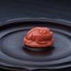 台湾天然MOMO橘色珊瑚吊坠-红掌柜