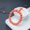 10mmMOMO橘色珊瑚單圈手串-紅掌柜