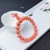 MOMO橘色珊瑚單圈手串-紅掌柜
