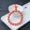 10mm橘色珊瑚單圈手串-紅掌柜
