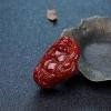 天然阿卡牛血红珊瑚佛吊坠-红掌柜