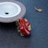 阿卡牛血红珊瑚年年有余吊坠-红掌柜