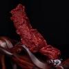 天然日本珊瑚馬上發財擺件-紅掌柜
