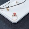 天然阿卡朱紅珊瑚貔貅戒指-紅掌柜