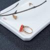 18K金鑲鉆阿卡珊瑚貔貅戒指-紅掌柜