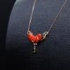 阿卡珊瑚花项链-红掌柜
