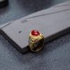 阿卡红珊瑚戒指-红掌柜