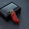 日本阿卡牛血紅珊瑚幸福如意吊墜-紅掌柜