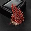 阿卡朱红珊瑚凤凰胸针-红掌柜